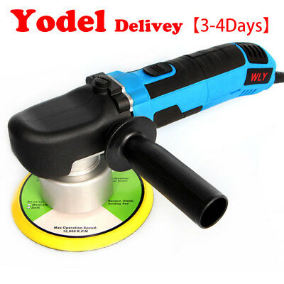 "Yodel Pick Electric Car Polisher 6"" Pad Dual Action Orbital Buffer Waxer Sander"