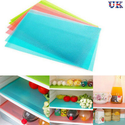 4PCS Refrigerator Fridge Mat Pad Drawer Liners Washable Kitchen Waterproof Shelf