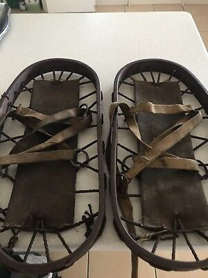 Rare English Army WW2 Snowshoes - Marked And Stamped.