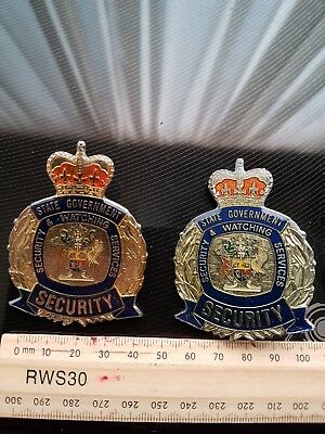State Government Of Queensland Security & Watching Services Badges