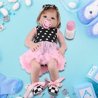 Waterproof Full Silicone Body Reborn Baby Girl Doll Lifelike Cute Gift Toy