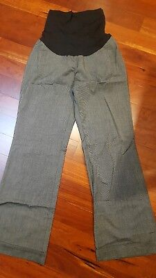 Motherhood Maternity Corporate Work Pants Size M with secret fit belly 10 - 12