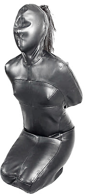 HEAVY DUTY LEATHER CORSACK STRAIGHTJACKET Escapology Steel custom made Gothic