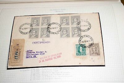 X Argentina 1940s/1960s: Large old collection of covers, FDC, blocks of four