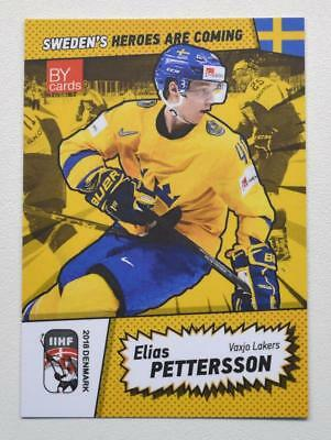 2018 BY cards IIHF WC Team Sweden #20 Elias Pettersson