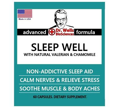 Dr. Wells SLEEP WELL Natural Sleeping Pills + GREEN UP Dietary Detox + FREE Mask