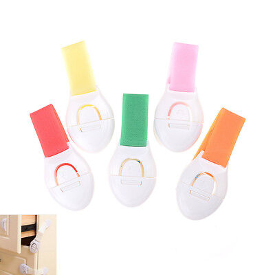 2Pcs Plastic Drawer Cabinet Locks Baby Safety Lock Protection For Children HC