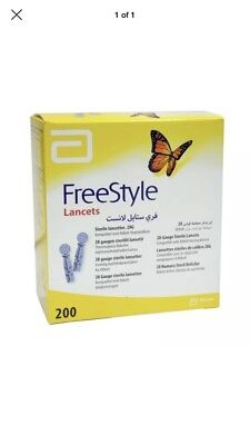 2 Boxes Of ABBOTT FREESTYLE DIABETIC LANCETS 200 (400 In Total) 4/2021