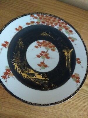 Antique Handpainted Japanese Porcalain Nippon  Plate Rare. Signed.