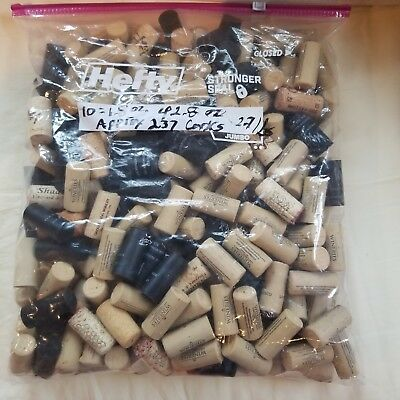Bag of 230 + USED Synthetic Cork Wine Bottle Corks