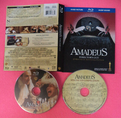 2 BLU-RAY film AMADEUS Director's cut 2009 Milos Forman WARNER no vhs dvd (D4)