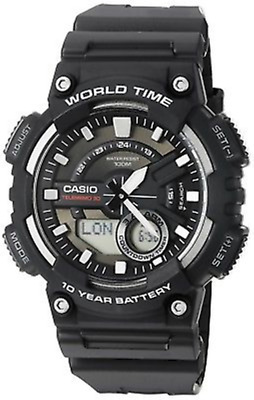 Casio Sports Men's Black Wristwatch with 46mm Case - AEQ110W-1AV