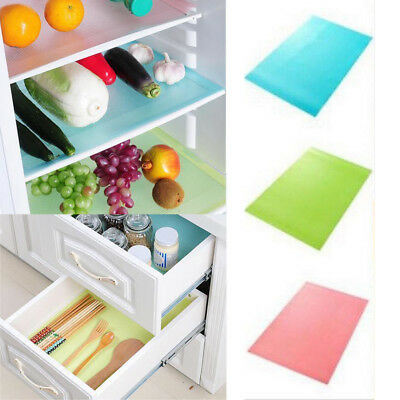 1/4PC Easy Clean Kitchen Antibacterial Cabinet Pad Anti Slip Fridge Liner Mat*UK