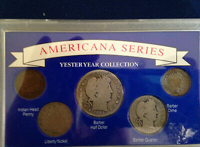 1902-1916 Americana Series Yesteryear Collection Silver Coin Set E4801