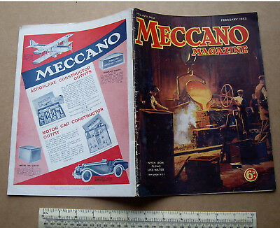 1933 Meccano Magazine V18#2 Hobbies Crafts Engineering Inventions Toy Adverts