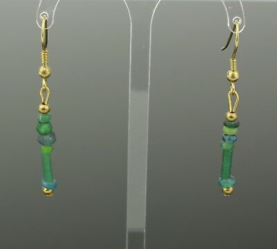 ANCIENT ROMAN GLASS BEAD EARRINGS - CIRCA - 2nd Century AD 807