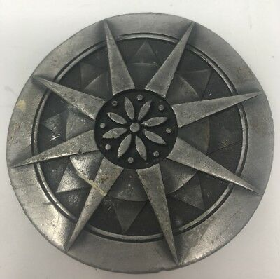 1976 Vintage Starburst Sun Belt Buckle Dege Designs Indiana Metal Craft Retro