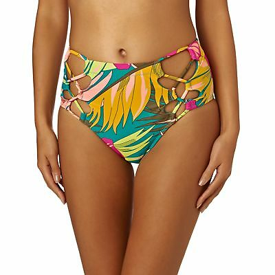 071e72c192 Volcom Hot Tropic Retro Womens Beachwear Bikini Bottoms - Teal All Sizes