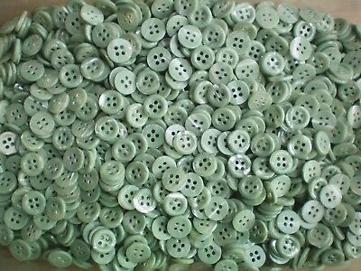 Beige 4 Hole Quality Buttons Small 11mm 18L Shell Effect Light Brown Z97
