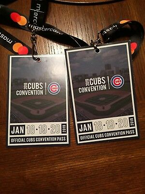 Cubs Convention 2 Passes for Weekend 1/18 1/19 1/20