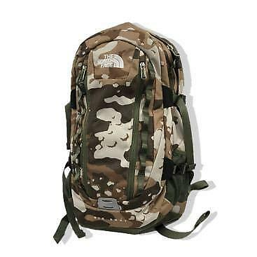 THE NORTH FACE Backpack Bic Shot Classic Moab Khaki wood chip duck print