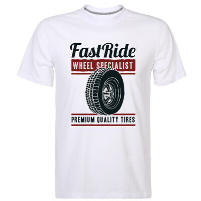 Fast Ride Cotton Multy Color Tee Wheel Specialist Men's Casual Sport T-shirt New