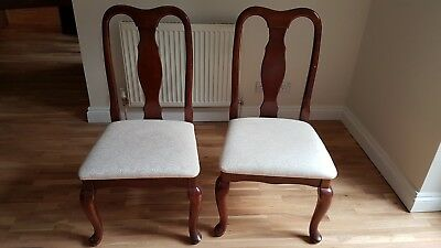 Pair of Reproduction dining chairs
