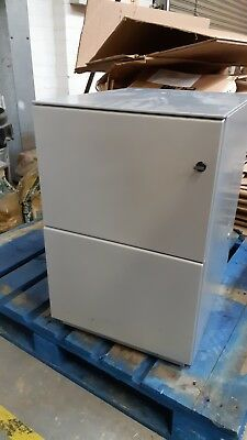 BISLEY Steel A4 Filing Cabinet with 2 Drawer Storage Office