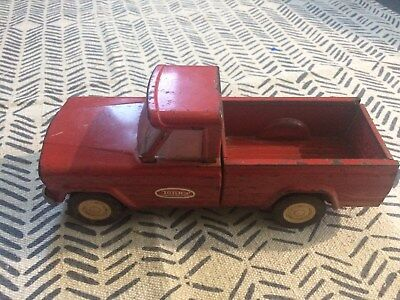 """Vintage Tonka Jeep pickup truck. Metal. 9"""". Red, collectible!"""