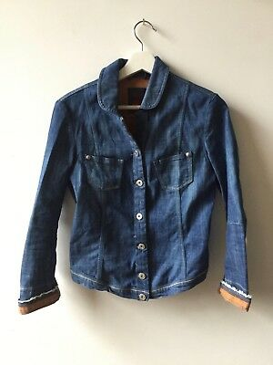 Women's Marithé + François Girbaud blue denim jacket size small great condition