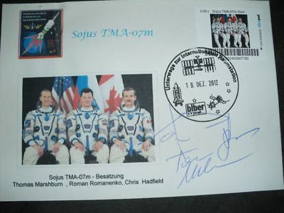 SOJUS TMA07M cover orig.signed Crew, SPACE