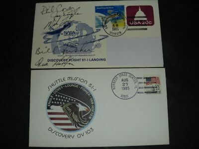 STS 51I launch/landingset orig.signed Crew, SPACE