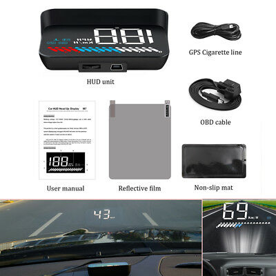 Head Up Display OBD GPS Car Digital Windshield Speed Projector MPH KMH Voltage