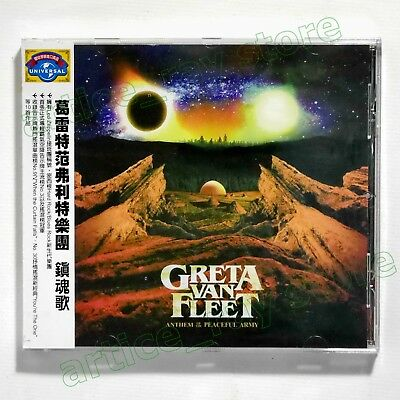Greta Van Fleet Anthem Of The Peaceful Army Taiwan CD OBI 2018 NEW
