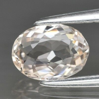 0.75ct 7x5mm Oval Natural Unheated Light Peach Morganite