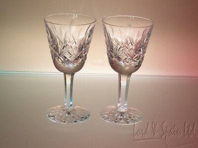 2 Waterford LISMORE Cordials or Small Liqueur Glasses