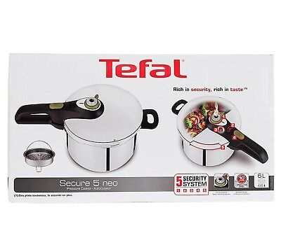 Tefal Secure 5 Neo 6 Litre Stainless Steel Pressure Cooker