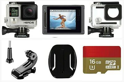 Refurbished GoPro HERO 4 Silver 4K HD Action LCD touch screen Camera 16G SD Card