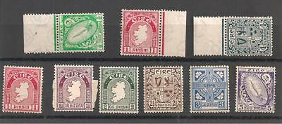 Ireland - early mint stamps - 9 different