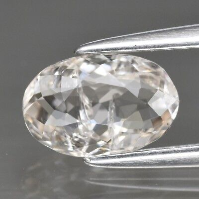 0.94ct 7.8x5mm Oval Natural Unheated Light Peach Morganite