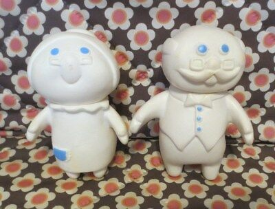 1974 Pillsbury Doughboy Poppie & GRANDMOMMER & GRANDPOPPER Polyvinyl Dolls