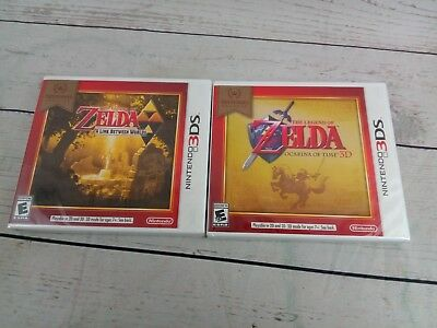 New Lot of 2 Games 3DS Legend of Zelda: A Link Between Worlds Ocarina of Time