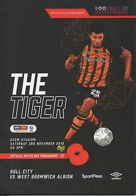 18/19 HULL CITY v  WEST BROMWICH ALBION  (3/11/18)