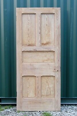 Lovely Antique 5 Panel Pine Victorian Front Door Stripped / RECLAIMED