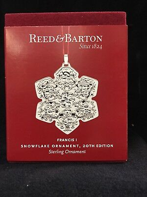 Reed and Barton Francis I Snowflake 20th Ed. Sterling Ornament **NEW**