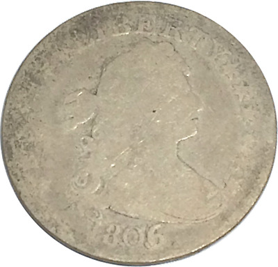 1806/5 OVER DATE LOOKS AG/GD DETAILS (CLEANED) Draped Bust Quarter 25c