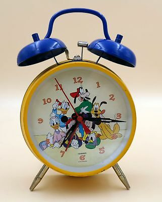 Aufzugswecker Disney-Figuren, laut, farbenfroh, IPC Holland, windup alarm clock