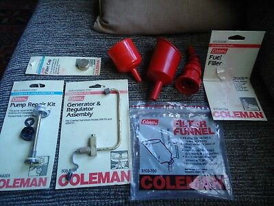 Vintage New Coleman Parts Stove and lantern generator,pump,cap
