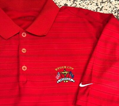 67592ed3 Men's Nike Golf FIT DRY Polo/Golf Shirt SS Extra Large XL Ryder Cup Valhalla