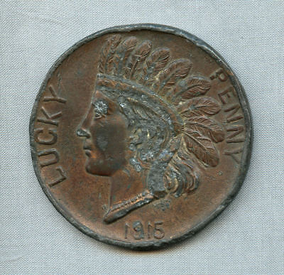 1915 Panama California Expo of San Diego Large Souvenir Penny 'Lucky Penny'